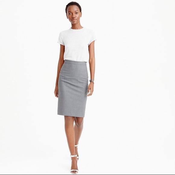 a01e3ac98 J. Crew Factory Skirts | Jcrew Factory Pencil Skirt Doubleserge Wool ...